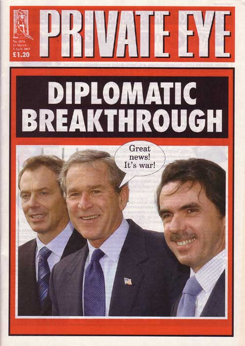 Tony Blair George W Bush  Jose Maria Aznar
