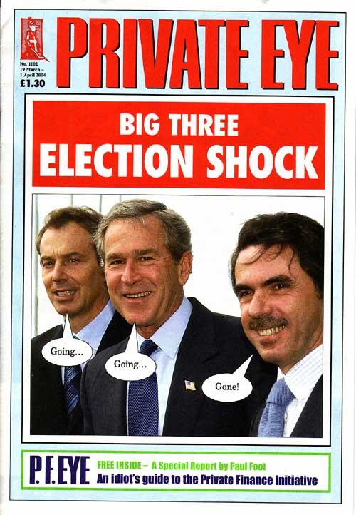 Tony Blair George W Bush Jose Maria Aznar