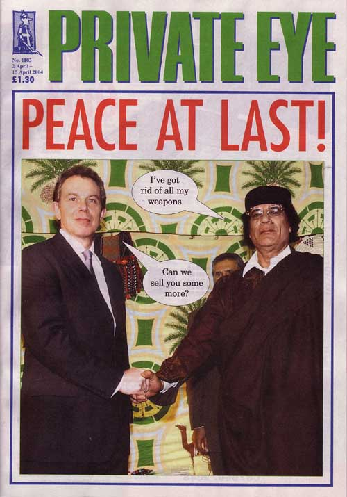 Tony Blair Colonel Gaddafi