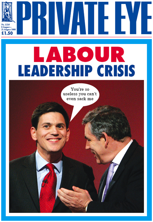 David Miliband Gordon Brown