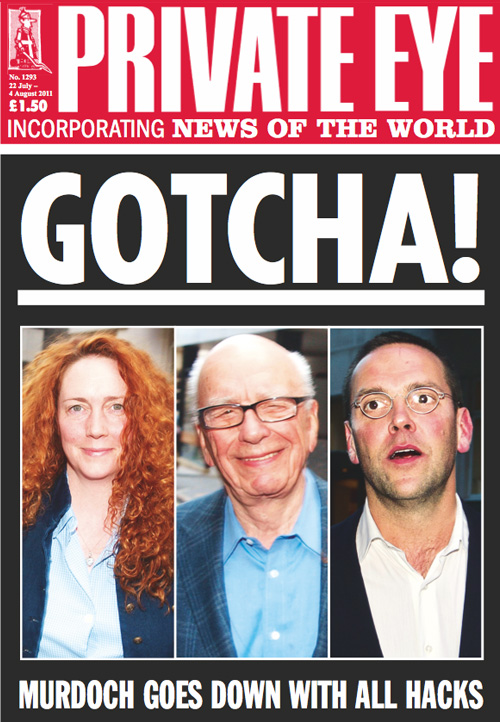 Private Eye cover Rupert+Murdoch James+Murdoch Rebekah+Brooks+(nee+Wade)