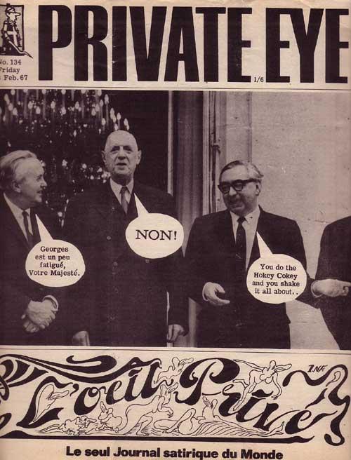 George Brown Harold Wilson Charles De Gaulle