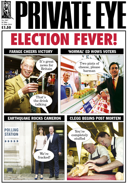 Nigel Farage Ed Miliband David Cameron Samantha Cameron Nick Clegg