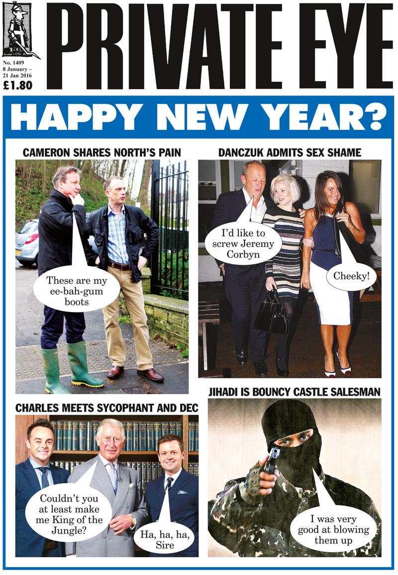 David Cameron Simon Danczuk Karen Danczuk Claire Hamilton Prince Charles Ant McPartlin Dec Donnelly ISIS Jihadi