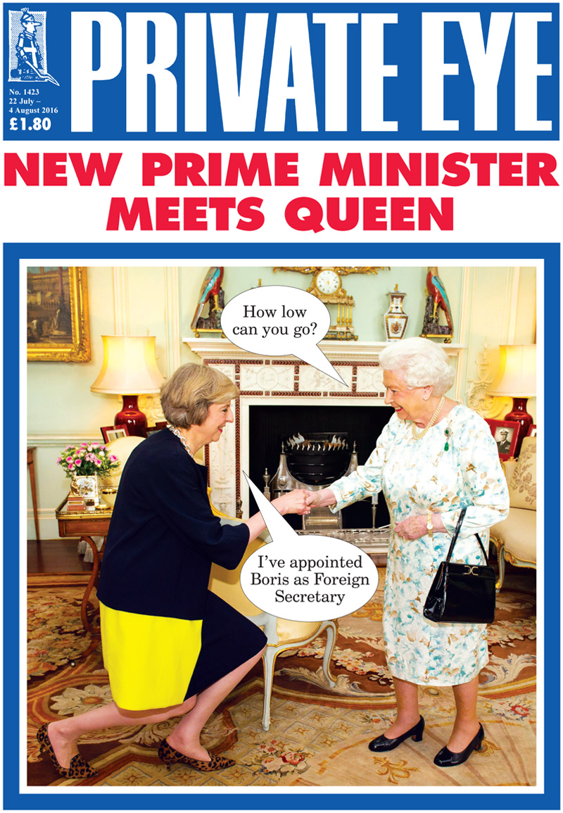 Private Eye cover The+Queen Theresa+May