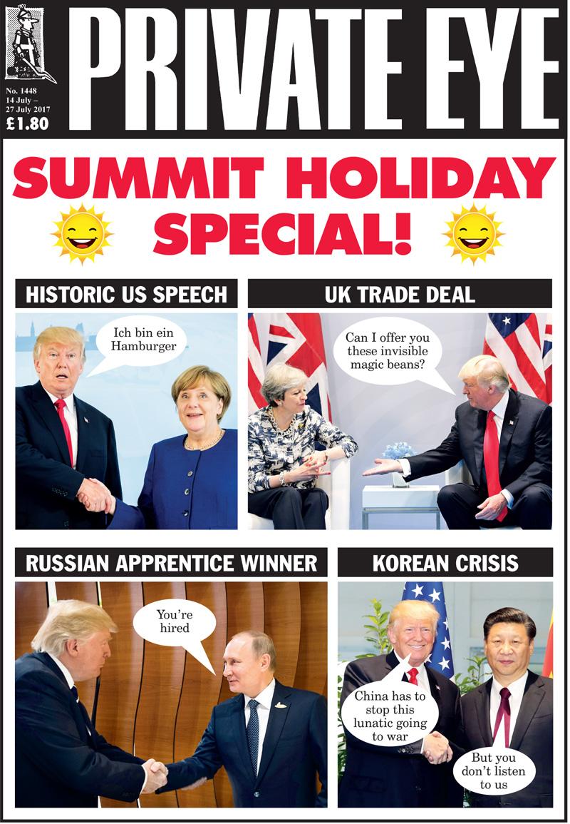 Donald Trump Theresa May Emmanuel Macron Angela Merkel Xi Jinping Vladimir Putin