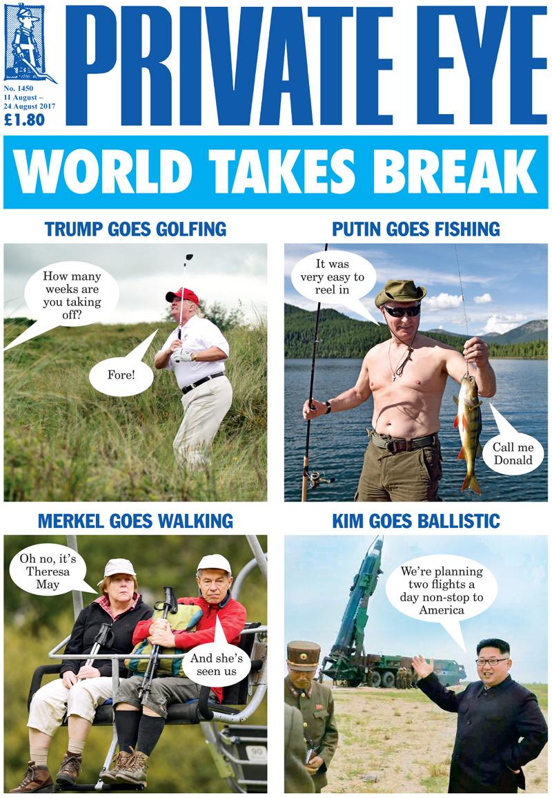 Donald Trump Vladimir Putin Angela Merkel Joachim Sauer Kim Jong-un