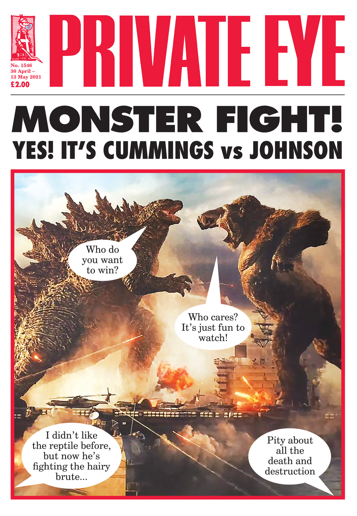 Godzilla King Kong Boris Johnson Dominic Cummings