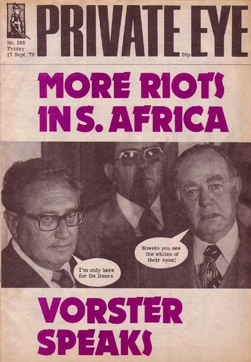 Henry Kissinger John Vorster