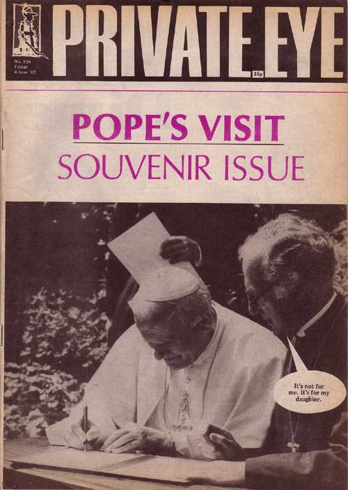 Pope John Paul II Robert Runcie