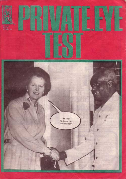 Margaret Thatcher Kenneth Kaunda