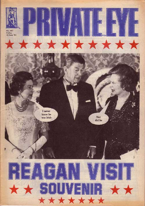The Queen Margaret Thatcher Ronald Reagan