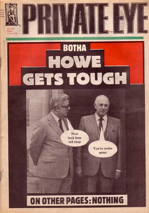 Geoffrey Howe P W Botha