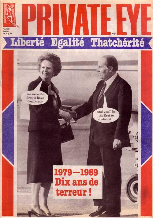 Margaret Thatcher Francois Mitterrand