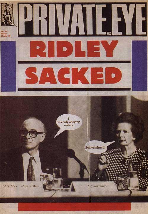 Nicholas Ridley Margaret Thatcher