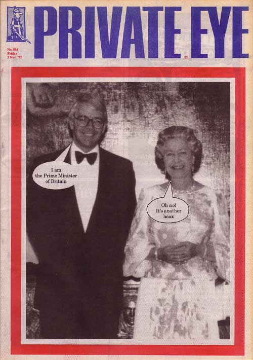 John Major The Queen