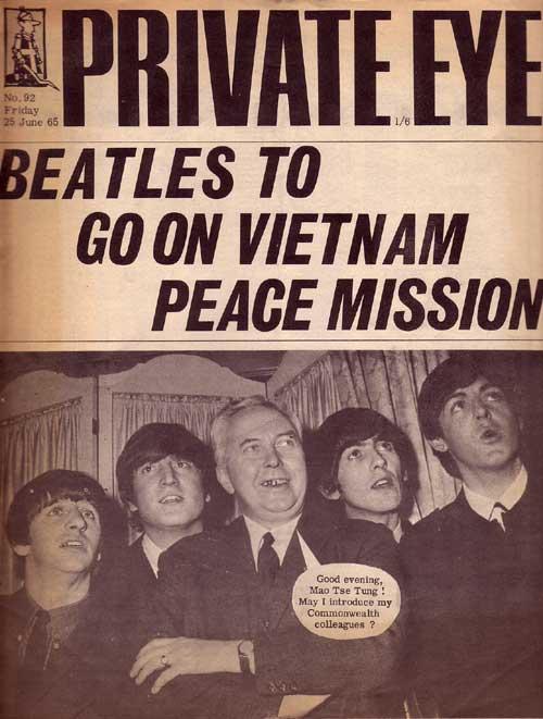 Ringo Starr John Lennon Harold Wilson George Harrison Paul McCartney