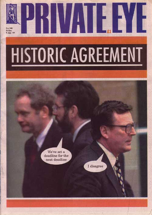David Trimble Gerry Adams Martin McGuinness