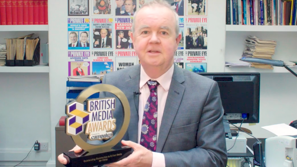 Ian Hislop wins British Media Award